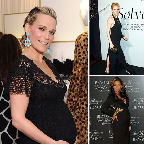 Pregnant Celebrities in Tight Maternity Clothes
