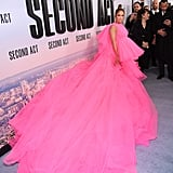Jennifer Lopez's Hot-Pink Dress at the Second Act Premiere 2018