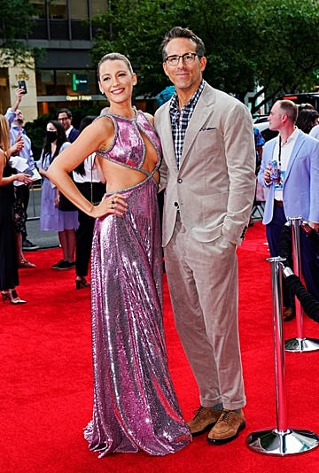 Blake Lively's Pink Prabal Gurung Dress With Ryan Reynolds