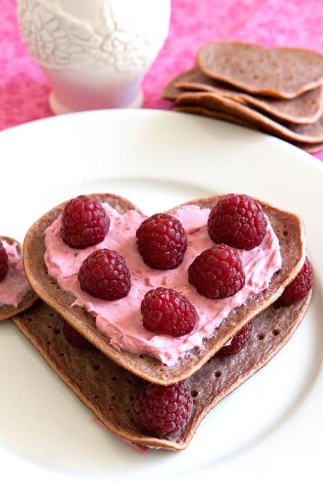 Raspberry Cream Cheese Pan-Crepes