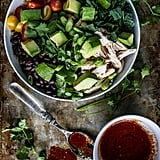 Chicken, Black Bean, and Avocado Bowl With Harissa Vinaigrette