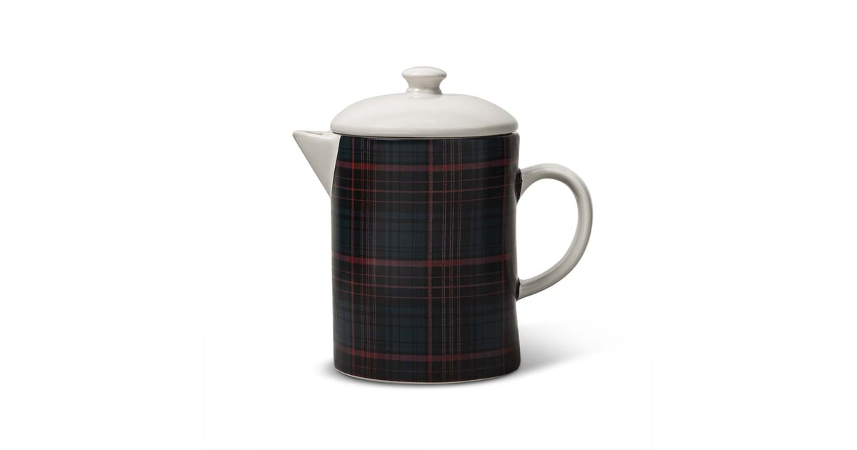 hearth hand with magnolia navy plaid coffee pot 20 hearth hand 2018 holiday collection. Black Bedroom Furniture Sets. Home Design Ideas