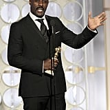 Idris Elba at the Golden Globes.
