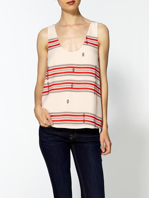"""""""I picture wearing this silky top tucked into a pair of high-waist black cutoffs, but it could easily be just as cute with skinny jeans and sandals."""" — Marisa Tom, associate editor  Joie Adonis Silk Print Top ($138)"""