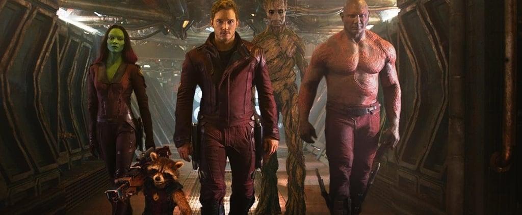 Chris Pratt's and Zoe Saldana's Guardians Characters