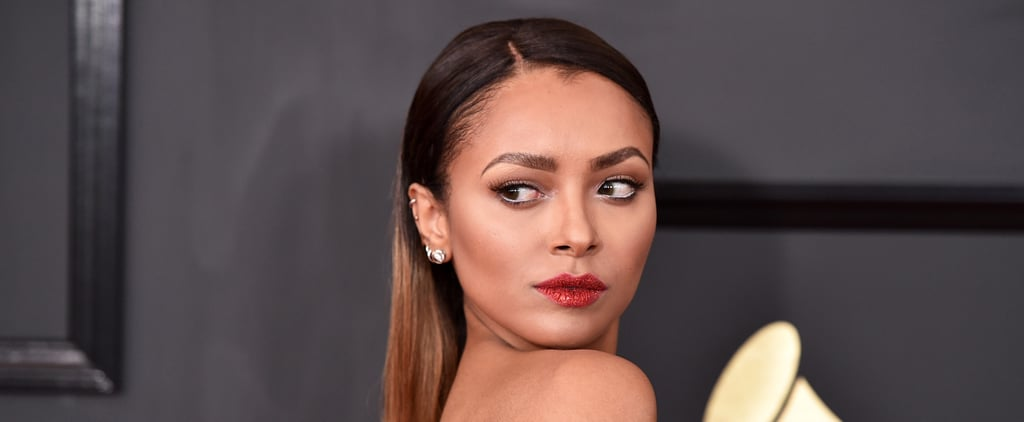 Kat Graham's Lips Were Just as Sparkly as Her Dress at the Grammys