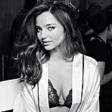 Miranda Kerr backstage at the Victoria's Secret Fashion Show. Source: Instagram user mirandakerrverified