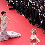Eva Longoria walked the red carpet behind Jane Fonda at the opening ceremonies of the Cannes Film Festival.