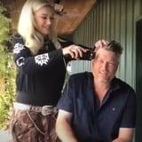 Gwen Stefani Gives Blake Shelton a Mullet Haircut