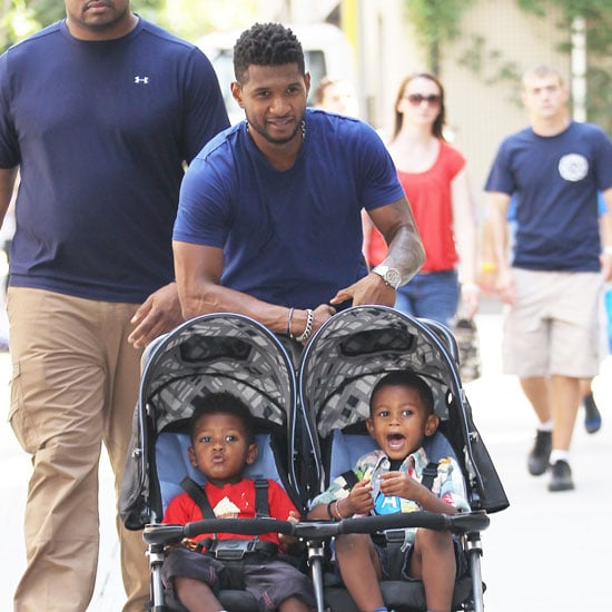 Usher in NYC With Sons Pictures