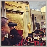 Kelly Osbourne looked out over the Oscars red carpet. Source: Instagram user kellyosbourne