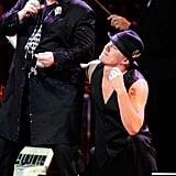 Channing Tatum had fun with Elton John at the Revlon Concert for the Rainforest Fund at Carnegie Hall in NYC.