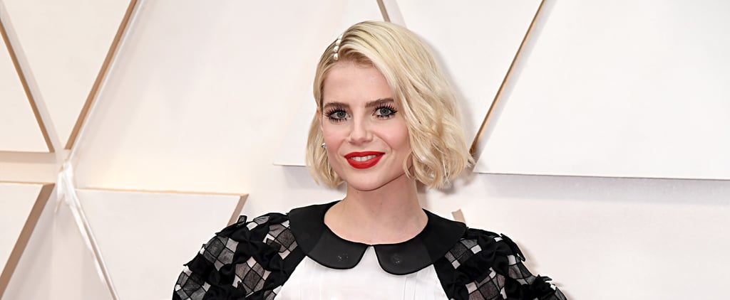 Oscars 2020: Lucy Boynton's Hair and Makeup