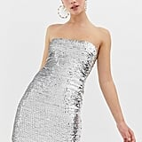 Collusion Sequin Bodycon Mini Dress