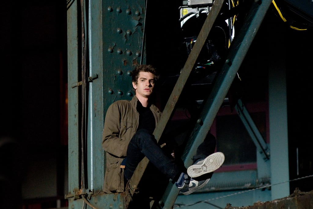 Andrew Garfield on the NYC Set of Spider-Man