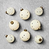 Cream Ornament Set