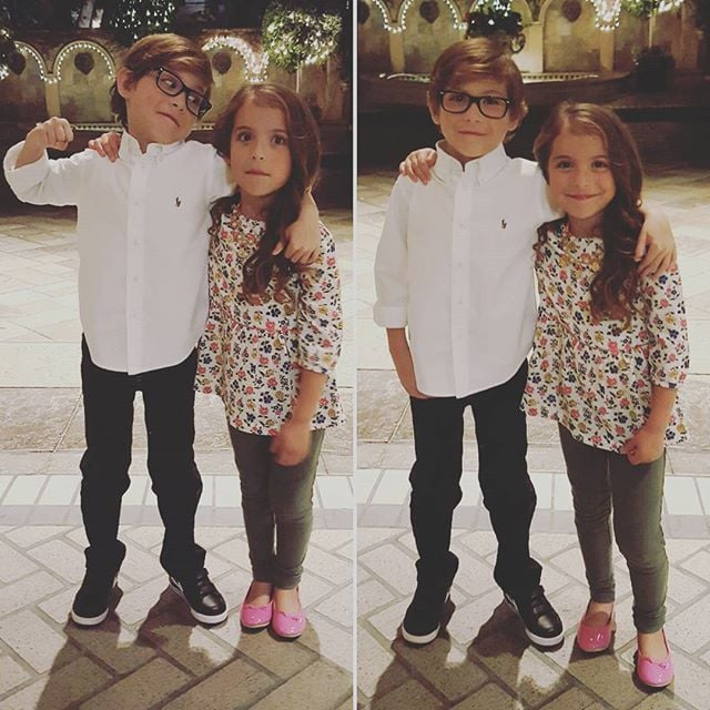Jacob Tremblay with Sister Erica Tremblay