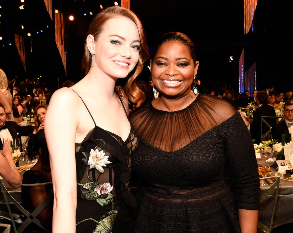 Pictured: Emma Stone and Octavia Spencer
