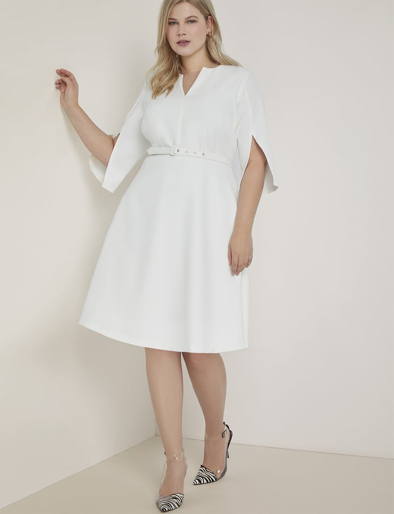 Eloquii Slit-Sleeve Fit-and-Flare Dress