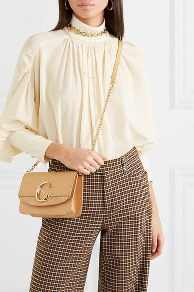 618644dce9 Chloé C Mini Suede-Trimmed Leather Shoulder Bag