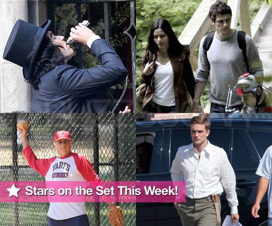Pictures of Larry David, Robert Pattinson, Russell Brand On Set