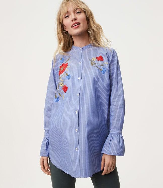 4cd4dc36f446a0 Maternity Clothes at Loft | POPSUGAR Fashion