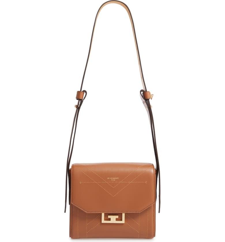 Givenchy Small Eden Stitched Leather Shoulder Bag
