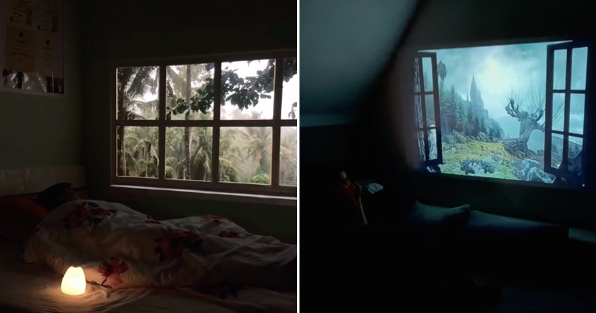 People on TikTok Are Projecting Fake Windows Onto Their Bedroom Walls, and It's So Soothing