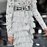 Wide Metallic Belts Finished Almost Every Look in the Collection