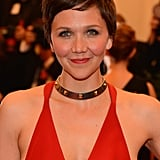 Maggie Gyllenhaal's plunging neckline was the perfect cut to display her Bulgari collar necklace.