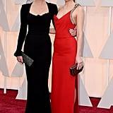 Dakota Johnson and Melanie Griffith at the Oscars 2015