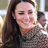 Kate Middleton smiled in Oxford.