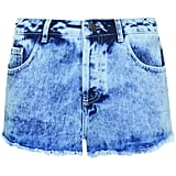 Bleached short shorts à la this pair from the Topshop Festival Collection for Summer 2013, inspired by Kate Bosworth, would go perfectly with a slouchy t-shirt and Converse.