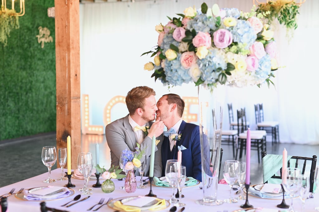 This Colorful Pastel Rainbow Wedding Shoot Is Gorgeous