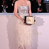 Kirsten Dunst posed at the Palme D'Or winners photocall at the 64th annual Cannes Film Festival in 2011.