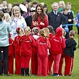 Kate met with a group of Girl Guide Rainbows in Scotland in Mary 2014.