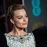 Margot Robbie's Bright Blue Eyeliner