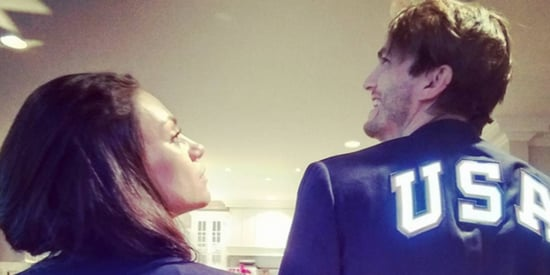 Ashton Kutcher And Mila Kunis' Matching Olympics Outfits Are So Damn Cute, They Deserve A Medal