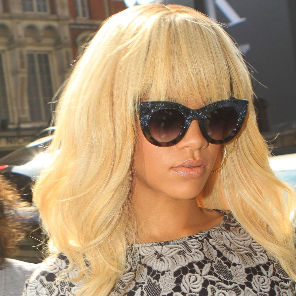 Rihanna's speckled specs are cat-astrophically chic.