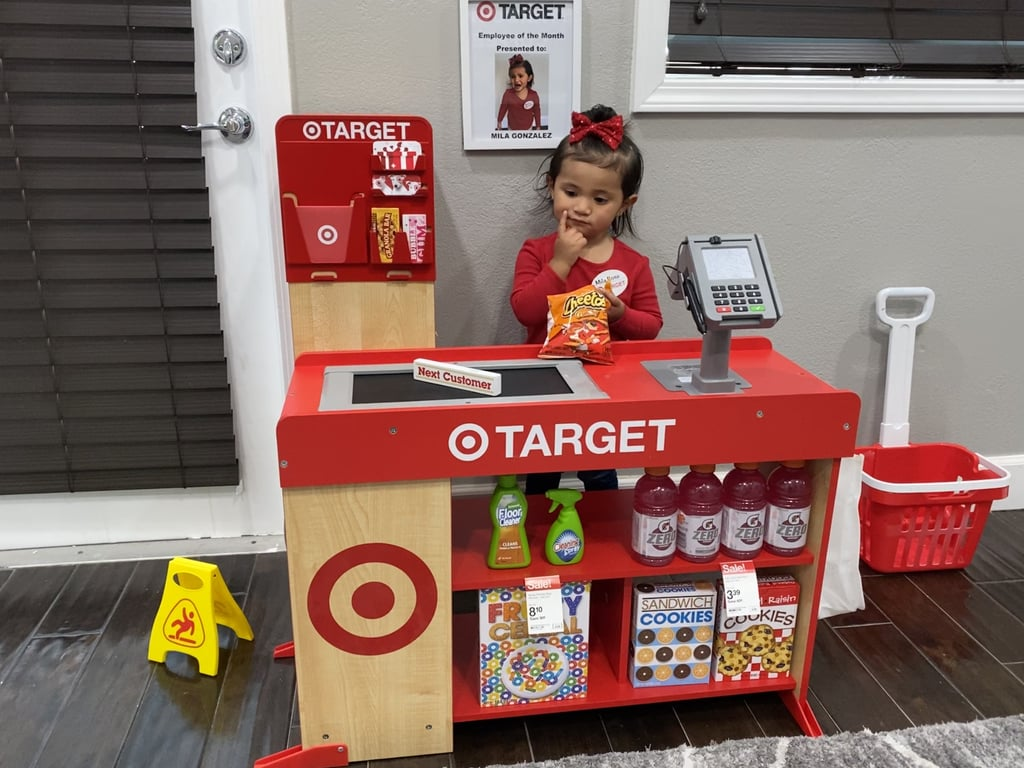"""If Diego Gonzalez, a police officer and father of two from California, had to pinpoint his fiancée's and daughters' favorite place on Earth, it would be Target, no question. And while social distancing has been stressful on his family — especially because he's risking his life at work to keep everyone safe — he decided to make it up to his 2-year-old, Mila, by building her a custom Target cash register and Starbucks playset. """"Since daily life hasn't changed much for me, because I still have to go to work, I noticed my fiancée and daughters were the ones being affected being at home all day,"""" he told POPSUGAR. """"I decided to make their lives easier by creating a family project, which in the end, would give my daughters endless hours of fun. Mila loves her Target register and Starbucks stand. She's in her playroom every day, and it's a struggle to get her out.""""      Related:                                                                                                           11 Photos of Kids' Self-Isolation Haircuts That Went About as Well as You'd Expect Them To               In total, both projects took Diego six hours, but he can't help but be proud of his handiwork. He even managed to snag a few Starbucks aprons from some helpful employees! """"The Target register took me about three days to complete,"""" he explained. """"We had to paint several parts, print out custom decals, Target stickers, store barcodes, and price tags. The Starbucks stand took another three days, and was [built] from scratch. It required a few trips to Home Depot and some woodworking lessons."""" """"The bonding was the best part of our projects!"""" For Diego, working on the special projects with his family meant the world. """"The bonding was the best part of our projects! We now have pictures, videos, and memories that we'll be able to include in her scrap book she'll be able to look back at when she's older,"""" he said. """"Being a father is a challenge within itself. Working full time as a deputy sheriff on"""
