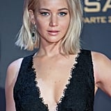 Jennifer Lawrence With Platinum Hair