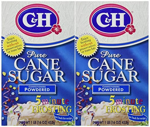 C&H Powdered Sugar 16oz (2 Pack)