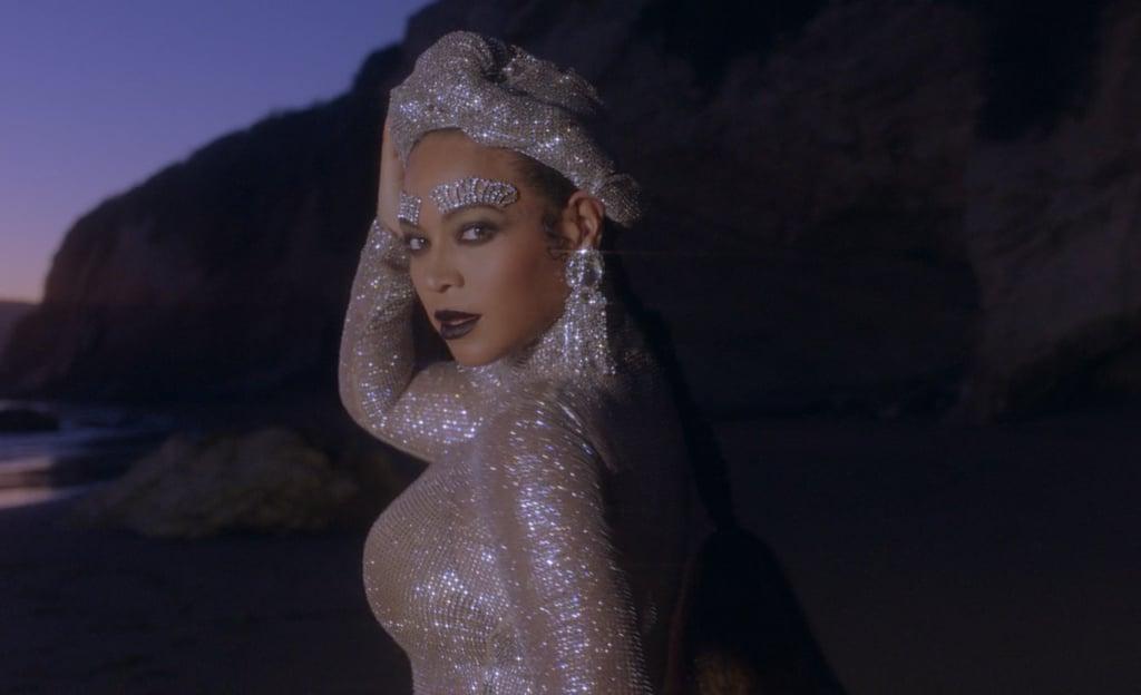 Beyoncé Wearing Crystal Eyebrow Jewellery