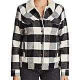 Levi's Premium Plaid Faux Shearling-Trim Jacket