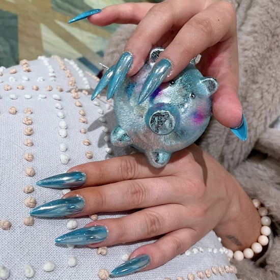 Lady Gaga's Icy Blue Holiday Nail Polish