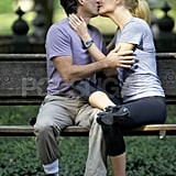 Gwyneth Paltrow and Mark Ruffalo kissed in a park for Thanks for Sharing.
