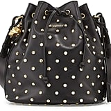 Alexander McQueen Padlock Studded Leather Bucket Bag ($1,845)
