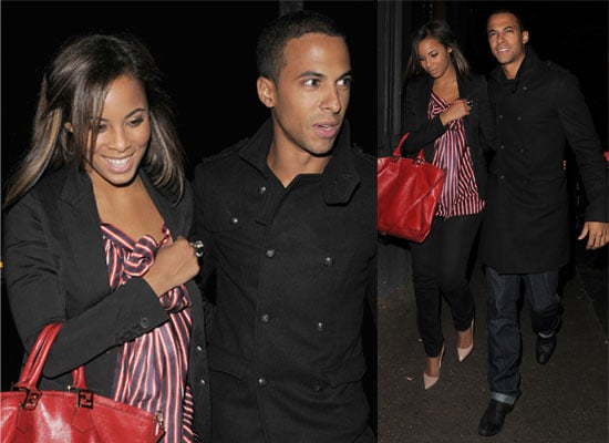 Photos of The Saturdays Rochelle Wiseman and JLS Member Marvin Humes Out On a Date in London