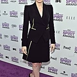 A bold Armani Privé look at the 2012 Independent Spirit Awards.