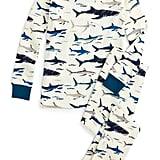 Shark Printed Tee and Pants Pajama Set